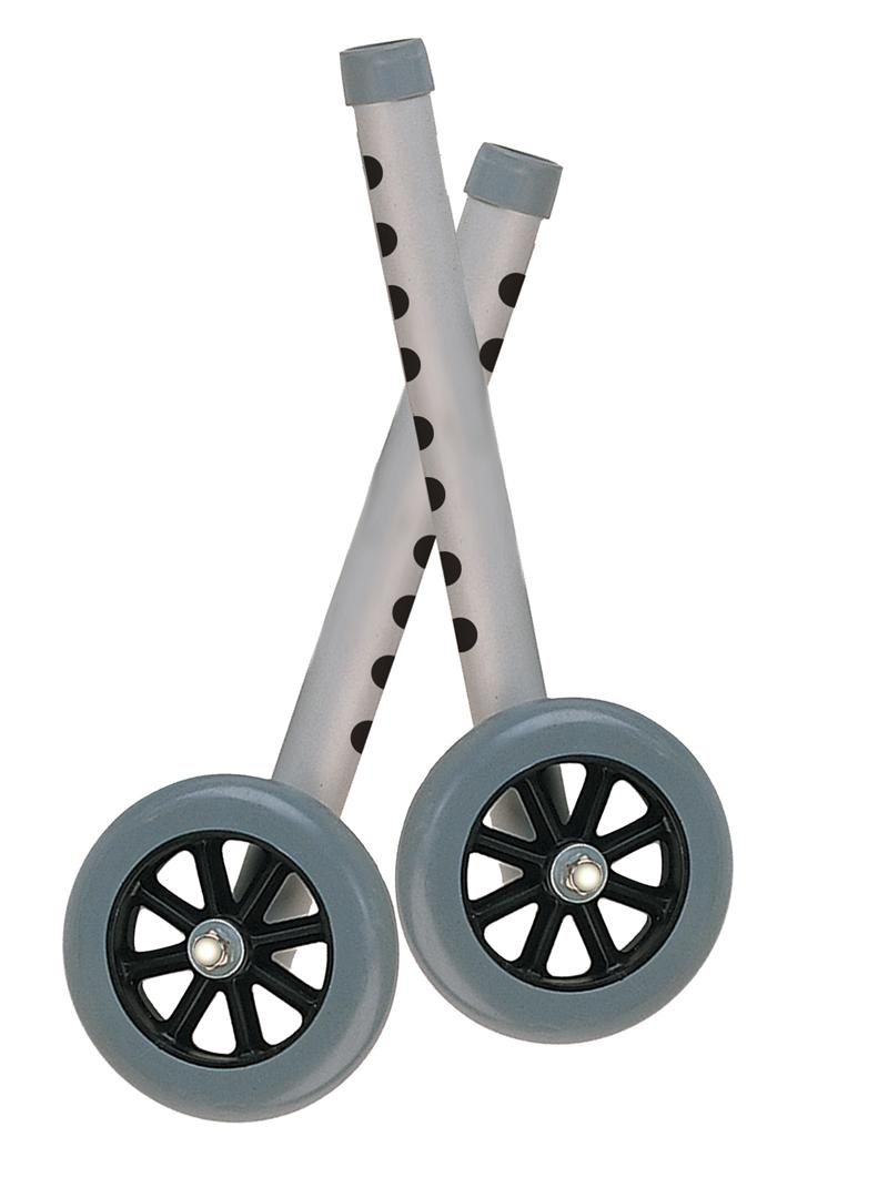 5 Quot Pink Walker Wheels With Two Sets Of Rear Glides