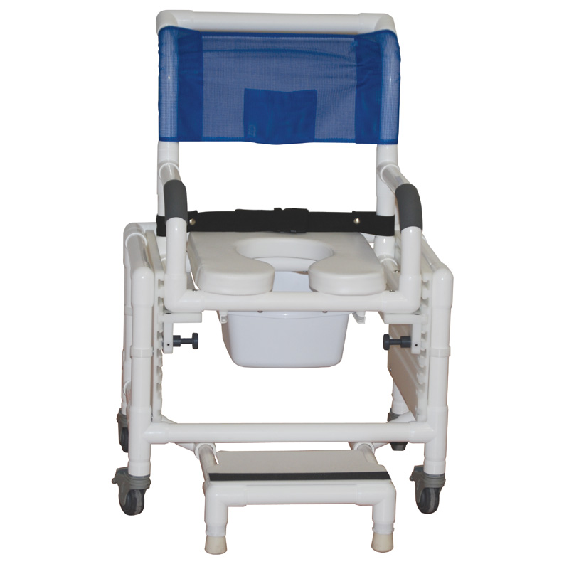 MJM Rio Shower and Commode chair 118-3-TL-SFS-SQPAIL-SSDE-SADJ