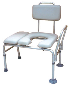 Combination Padded Transfer Bench Commode By Drive Medical