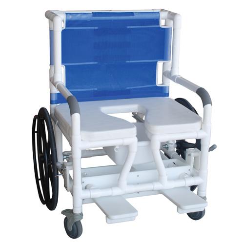 Bariatric shower commode transferchair 140 26bar 24w for Bariatric bathroom design