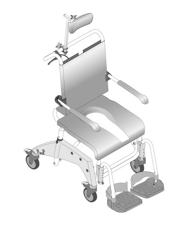 Aquatec Ocean VIP Tilt-in-Space Shower Chair | Hygiene and Bath