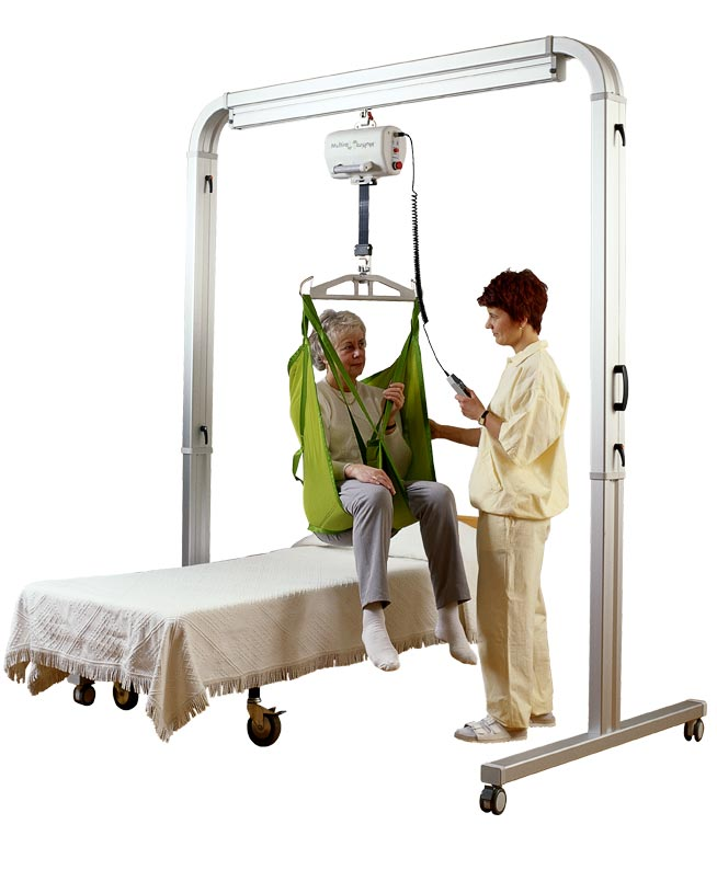 Overhead rail system patient lift equipment
