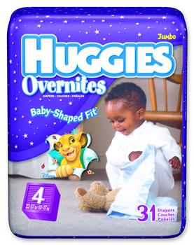 Huggies Baby Shaped Overnite Diapers