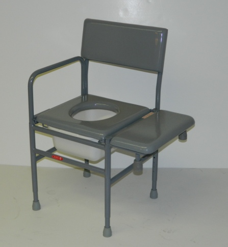 activeaid stainless steel chair model ss277b with transfer bench