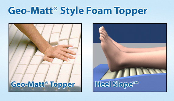 easy air therapy mattress geomatt foam topper and heel slope