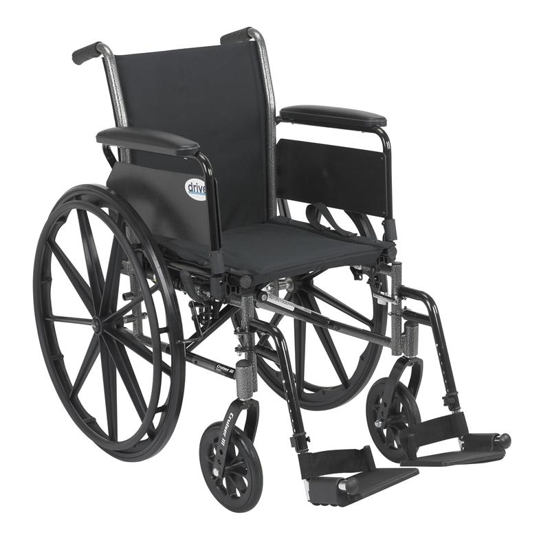 cruiser iii 20 light weight wheelchair by drive medical k318dfa sf. Black Bedroom Furniture Sets. Home Design Ideas