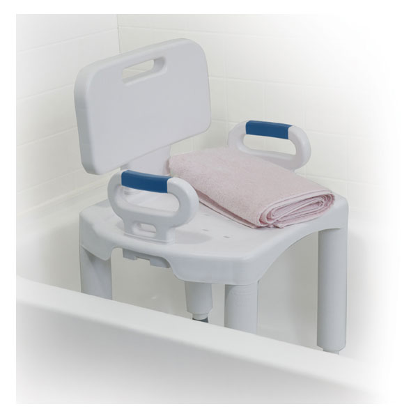 Bath Bench With Back And Arms By Drive Medical Rtl12505