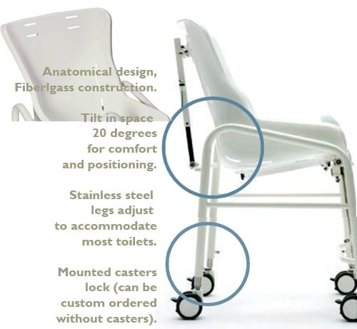 Snug Seat Bath Chair Potty Chairs With Trays Adaptive Specialties