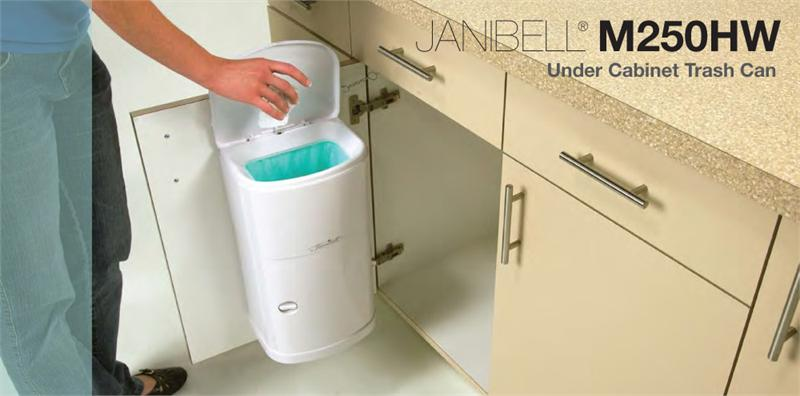 Janibell 4 Gal Abs Receptacle White Cabinet Mount