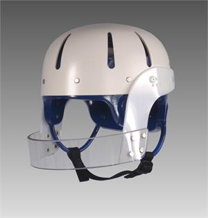 Danmar Hard Shell Helmet with Face Bar, Lexan polycarbonate 2 wide face bar that helps in reducing the risk of injury to the facial area. Face bar is screwed securely into place so it doesn't move or pivot.