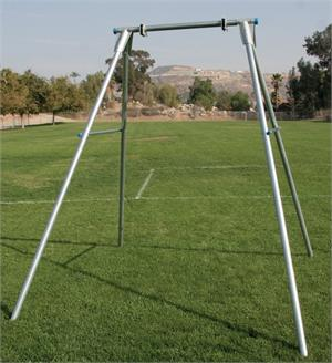 Single Light Duty Swing Frame Pediatric Play Recreation