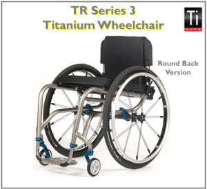 Compact, swept-in dual-tube frame provides style of TR Series 3 Titanium Wheelchair from TiLite.