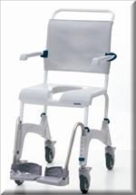 Aquatech Ocean Shower Chair and Commode serves double duty, a shower chair and commode.