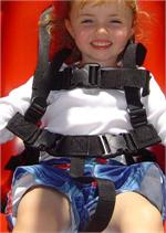 HARNESS - Replacement Harness for Jennswing, made of woven water resistant polypropylene with plastic side release buckles.  Fully adjustable harness.