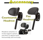 Countour or flat headrest for the Rifton adaptive tricycle.