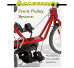 Front pulley system for the Rifton adaptive tricycle.