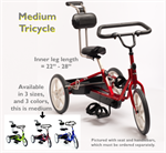 Rifton medium-size adaptive tricycle for special needs children.