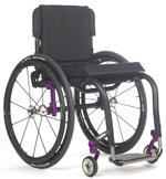 Front, back and side views of the TiLite Aero Z Aluminum Wheelchair, custom-fitted to each individual user.