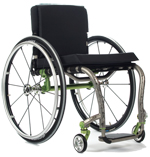 TiLite wheelchairs made of titanium provide lightweight strength and durability in a customized wheelchair that fits like a prosthetic.
