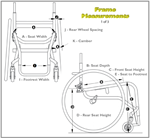 Our advisor can assist you with these measurements so that your TR Series 3 Titanium Wheelchair is custom fitted.