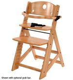 Special Tomato Height Right Chair in wood provides a stable chair for children.