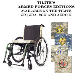 Tilite's Armed Forces Addition Wheelchair
