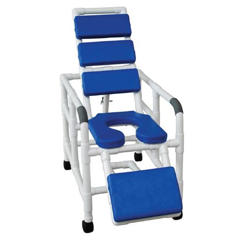 Sensational Blue Soft Seat Total Padding Reclining Shower Chair 193 Creativecarmelina Interior Chair Design Creativecarmelinacom