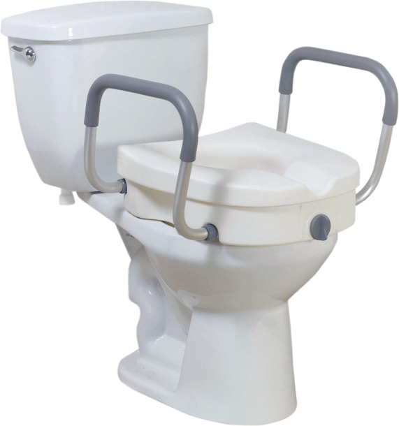 Magnificent Drive Medical 2 In 1 Locking Raised Toilet Seat With Short Links Chair Design For Home Short Linksinfo
