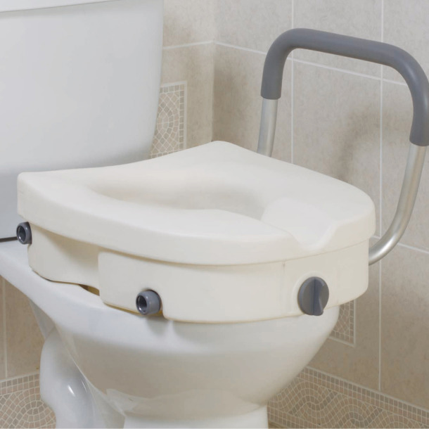 Terrific Drive Medical 2 In 1 Locking Raised Toilet Seat With Short Links Chair Design For Home Short Linksinfo