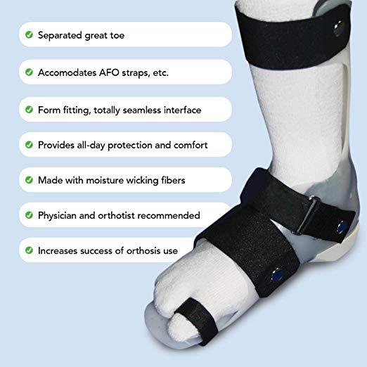 SmartKnit Kids Seamless AFO Interface Socks