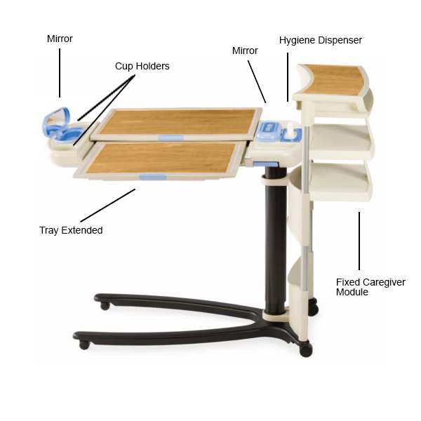 Hill Rom Overbed Table