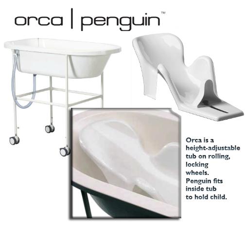 Snug Seat Penguin Lying Support For Child Bath Tub