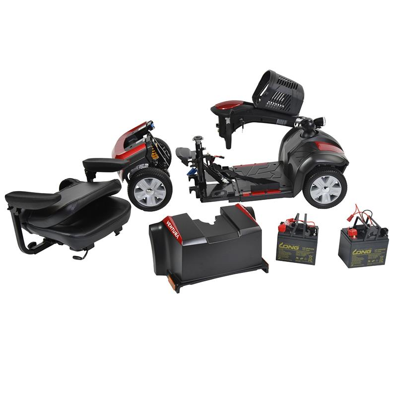 Ventura 4 Wheel Scooter with Folding Seat By Drive Medical