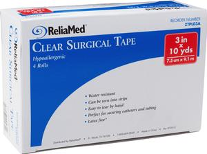 "ReliaMed® Clear Surgical Tape, 3"" x 10 yds"