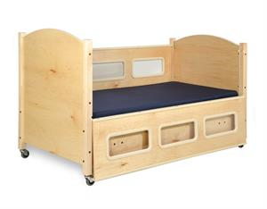 Sleepsafe Basic Fixed Height Pediatric Bed is a scaled down bed for children with extra safe design.