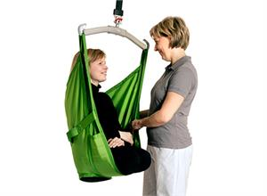 Liko Amputee Polyester Sling Mod. 70 with polyester fabric and net options.