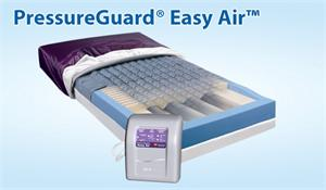 PressureGuard Easy Air therapy mattress for pressure reduction with low air loss, alternating pressure and lateral rotation.