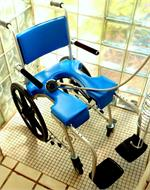 Go-Anywhere Self Propel Commode 'N Shower Chair