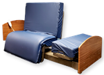 Fixed-Height Rotational Turn Stand Assist Bed with mattress