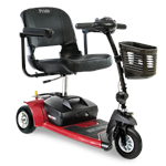 Go-Go Ultra X 3-wheel by Pride Mobility in Red