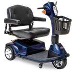 Maxima 3-Wheel Scooter by Pride Mobility Viper Blue