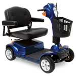Maxima 4-Wheel Scooter by Pride Mobility in Viper Blue