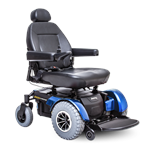 Jazzy 1450 Bariatric Power Wheelchair in Viper Blue