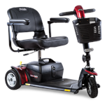 Go-Go Sport 3-Wheel by Pride Mobility with Red Shroud