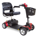 Go-Go Sport 4-Wheel Scooter by Pride Mobility with Red Shrouds