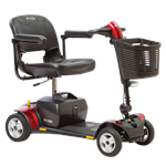 Go-Go Elite Traveller Plus 4-Wheel Scooter by Pride Mobility in Red