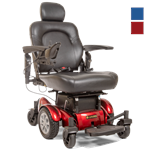 Compass HD Power Wheel Chair by Golden Technologies in Red