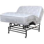 Fully Electric head and knee articulation with  hi-low bed  with mattress