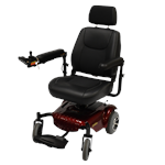 Junior Compact Power Wheelchair by Merits in Red
