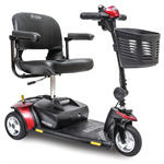 Go-Go Elite Traveller 3-Wheel by Pride Mobility in Red